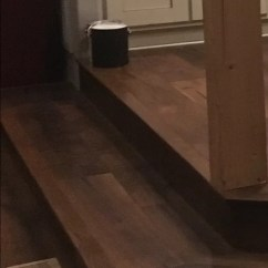 Laminate Flooring Sunken Living Room Rugs For In Home Goods Step Riser Flush With Wall How To Install Trim I Have Attached A Few Pictures Try Show It Forgive The Quality