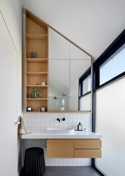 Contemporary Bathroom by Tom Robertson Architects