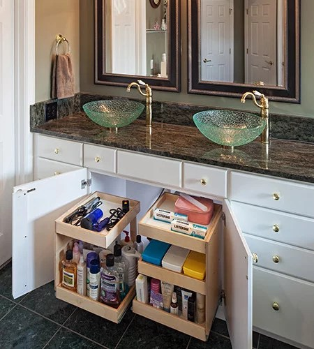 kitchen pull out shelves standard size cabinets under sink