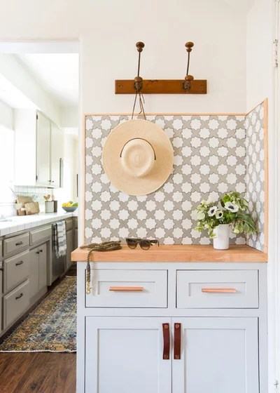 Transitional Laundry Room by STEFANI STEIN