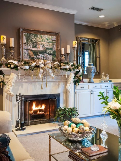 Fireplace Decorating Design Ideas  Remodel Pictures  Houzz