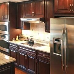 30 Undermount Kitchen Sink Cabinet Makeover Kit Dark Cherry Cabinets | Houzz
