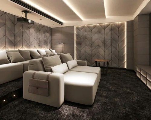 dark gray sofa living room ideas cushion for best modern home theater design & remodel pictures ...