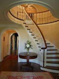 Foyer With Curved Staircase   Houzz