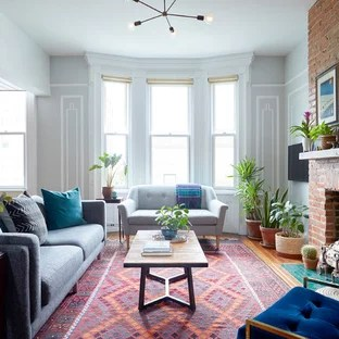 living room plant decor christmas designs for ideas photos houzz example of a mid sized eclectic formal and enclosed medium tone wood floor brown