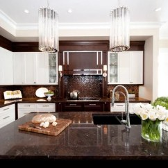 Kitchen Faucet Pull Out Sprayer Remodel Los Angeles Brown And White | Houzz