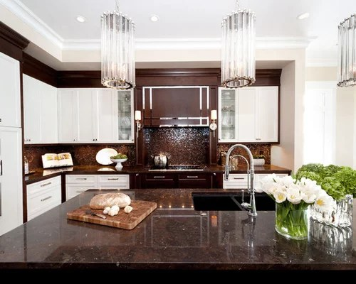 single handle kitchen faucet base cabinet brown and white | houzz