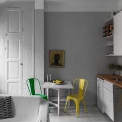 Small Kitchen Table Ideas Aid Refrigerators Houzz Scandinavian Open Concept Inspiration For A Single Wall Painted