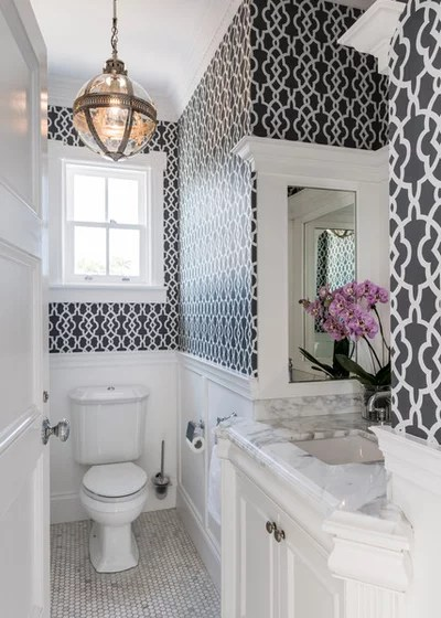 Traditional Powder Room by Highgate House