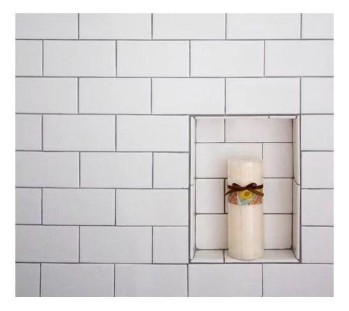 subway tile shower niche 3 8 higher