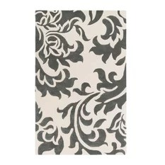 Lounge LGE-2234 Dark Gray and Off-White Contemporary Rug 9'x13'