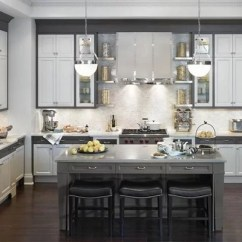 Kitchen Faucet With Pull Out Sprayer Kingston Brass Gray And White Kitchens | Houzz