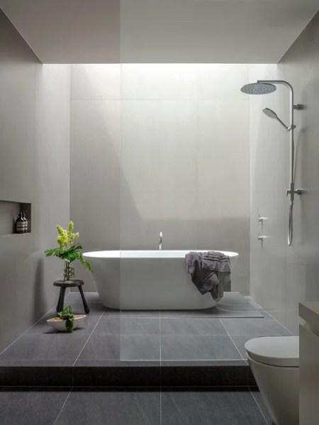 modern bathroom shower design ideas Modern Bathroom Design Ideas, Renovations & Photos with an Open Shower