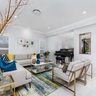 nice living rooms ideas room color 75 most popular design for 2019 stylish contemporary open concept in brisbane with grey walls and beige floor