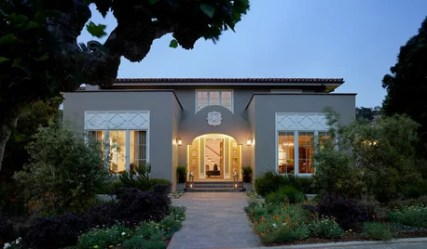 spanish revival paint colonial houzz exterior yields functional tour mann andrew architecture