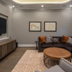Houzz Living Room Paint Pictures For Walls Uk 75 Most Popular Transitional Family Design Ideas 2019 Dark Wood Floor And Brown Idea In Houston With
