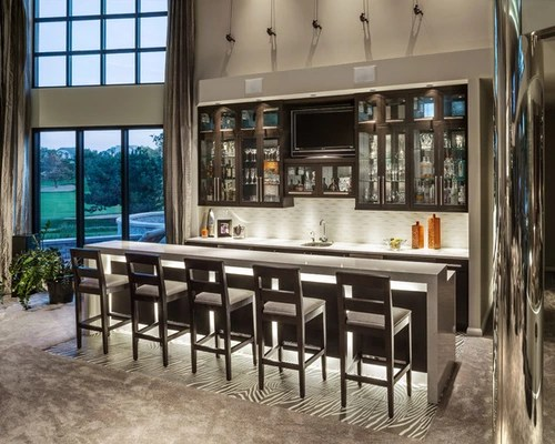 Contemporary Wet Bar  Houzz