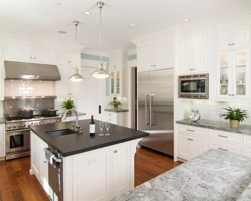 12 Ft Butcher Block Countertop Mixed Countertops | Houzz