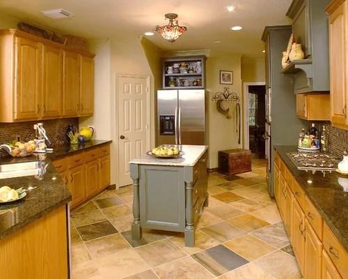 oak kitchen chairs lighting golden cabinets | houzz