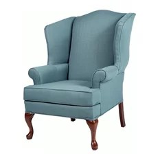 traditional wingback chair zina swivel 50 most popular chairs for 2019 houzz comfort pointe erin blue 28x35x42 armchairs and accent