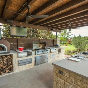 patio kitchen mdf cabinets 75 most popular design ideas for 2019 stylish large elegant backyard stone photo in dallas with a roof extension