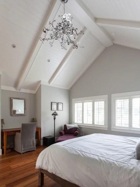 white walls grey ceiling bedroom Gray Owl Paint Oc-52 Benjamin Moore | Houzz