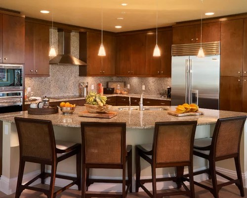 kitchen remodel dallas wall paper curved island | houzz