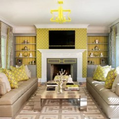 Grey And Yellow Living Room Decorating Ideas Small Accent Tables Gray Houzz