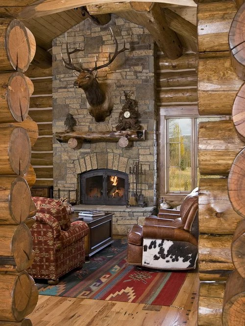 Western Fireplace  Houzz