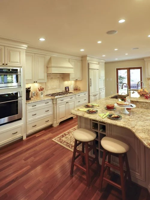 Modern White Kitchens Wood Floors