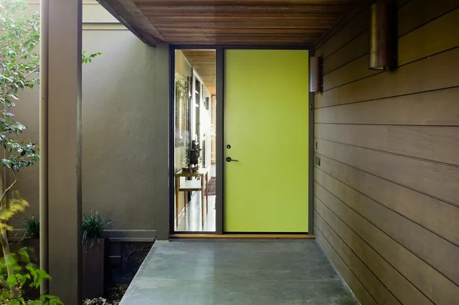 Midcentury Entry by Koch Architects, Inc.  Joanne Koch
