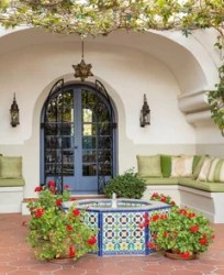 spanish colonial revival exterior paint hall 1920 beverly hills dering contributors deringhall features tour daily