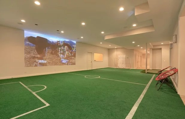 Traditional Basement by A. Perry Homes