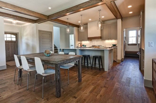 Traditional Dining Room by Western Coswick Hardwood Floors