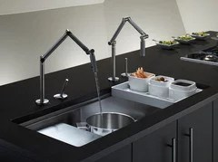 2 faucets for one sink