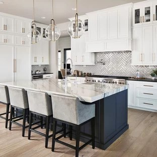 kitchen design ideas images cabinet showrooms 75 most popular for 2019 stylish transitional open concept appliance inspiration a u shaped medium tone wood