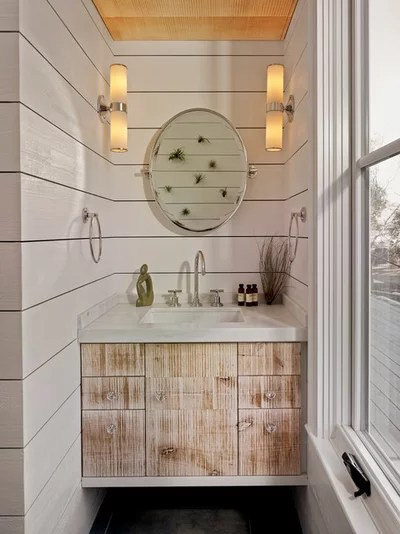Farmhouse Bathroom by Bevan Associates