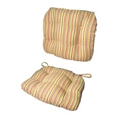 Child Rocking Chair Cushions Atwood Plaid Indoor/Outdoor  Machine Washable