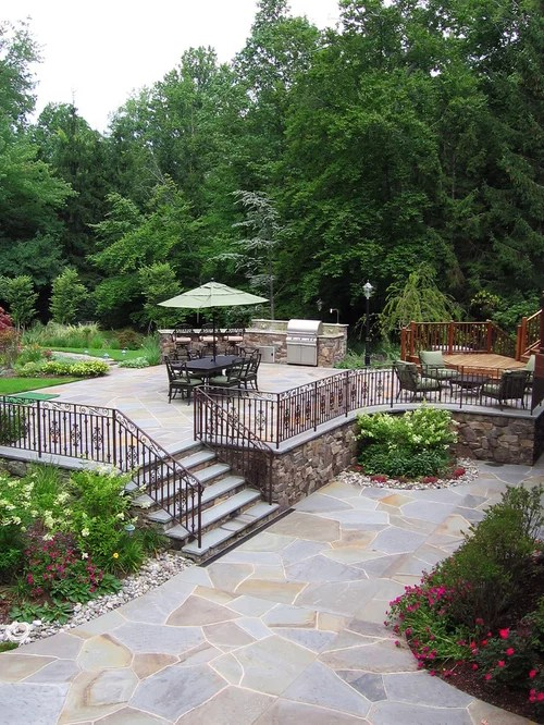 natural stone terrace home design