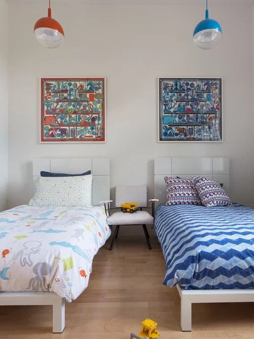 Kids Room With Two Beds Houzz