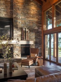 Stacked Stone Fireplace Home Design Ideas, Pictures ...
