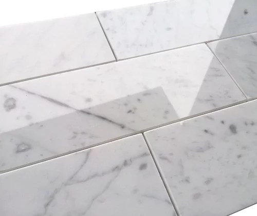 grout color for carrara marble tile