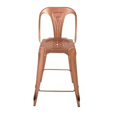 industrial kitchen stools cabinets ft myers fl 50 most popular and bar for 2019 houzz uk meubles zago indus curved stool set of 2 bright copper