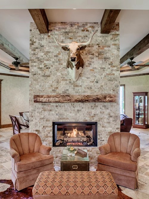 TwoSided Fireplace Home Design Ideas Pictures Remodel and Decor