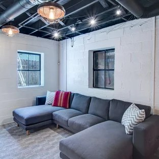 25 Best Industrial Basement Ideas Designs  Remodeling Pictures  Houzz