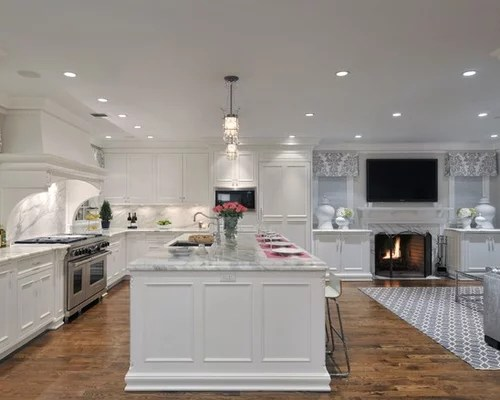 mid level kitchen cabinets red oak open to family room home design ideas, pictures ...