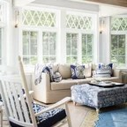 montreal sectional sofa in slate kid chair brooklyn brownstone sunroom - eclectic new ...