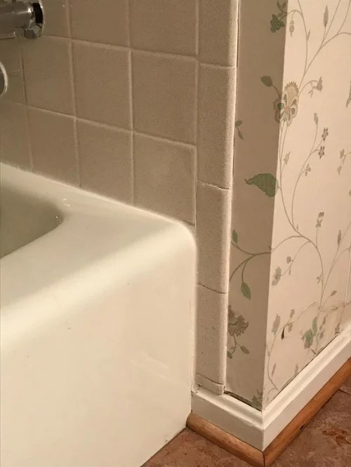 how to finish tile edge at tub shower
