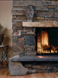Dry Stack Fireplace Home Design Ideas, Pictures, Remodel