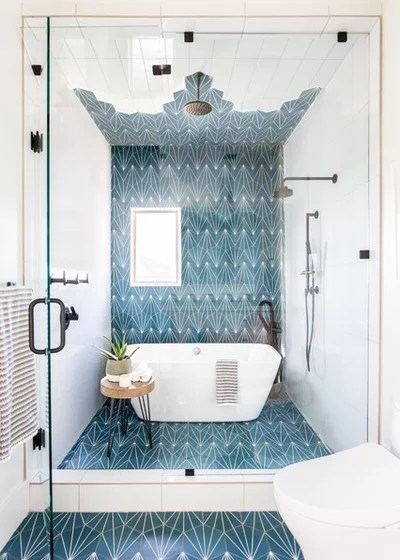 Trend Alert 8 Narrow Bathrooms That Rock Tubs In The Shower Rubenstein Supply Company